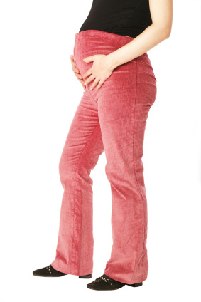 Spodnie ciążowe z podwyższonym stanem